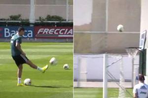 """En VIDEO: El """"triple"""" de Cristiano en el entrenamiento de la Juventus que enloqueció a sus seguidores"""