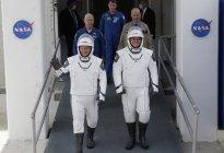 Los astronautas que llegaron a la EEI desde EEUU explicaron su viaje