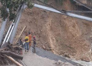 Vente Barinas denunció que parroquia Calderas quedó incomunicada por caída de un puente (Fotos)
