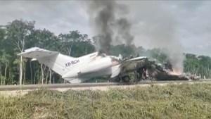 Aeronave derribada en México llevaba casi 400 kilos de cocaína