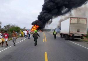 Tragedia en Colombia: Al menos siete muertos tras explosión de camión de gasolina