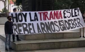 El Movimiento Estudiantil Venezolano tomó la Plaza Bolívar de Caracas
