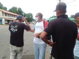Realizaron jornada de entrega de tapabocas ante aumento de casos de Covid-19 en Anzoátegui