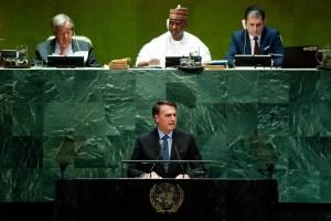 Bolsonaro denuncia en la ONU brutal campaña contra su política ambiental