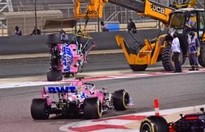 Así fue el accidente del canadiense Lance Stroll en el reinicio del GP de Baréin (VIDEO)