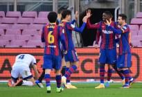 El Barcelona se divierte ante Osasuna y Messi dedica un gol a Maradona