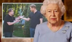 """¡Furia Real! El Palacio de Buckingham critica al príncipe Harry por aparecer en el Show de James Corden: """"La reina tiene prioridad"""""""