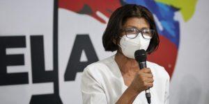 """""""Protestar no es delito"""": Ana Rosario Contreras exigió la liberación de la enfermera Ada Macuare"""