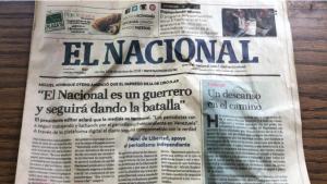 Embargo al diario El Nacional suscitó el rechazo internacional