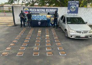 Teniente de la GNB fue capturada infraganti cuando transportaba 50 panelas de presunta marihuana