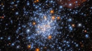El Hubble capta un extraordinario cúmulo de estrellas formadas de una única nube de gas y polvo