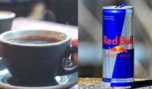 ¿Cuántas tazas de café equivale una lata de Red Bull?
