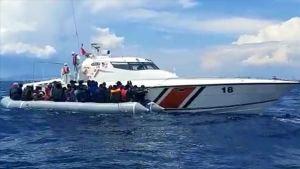 Guardia costera de Turquía detuvo a más de 200 migrantes irregulares en el Mar Egeo