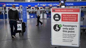 Reino Unido eliminará cuarentena para viajeros vacunados de EEUU en agosto