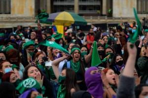 Colombianas protestaron para exigir aborto legal y sin exclusión (Fotos)
