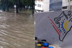 Murales vs. inundaciones: La realidad caraqueña que el chavismo no puede ocultar (Fotos)